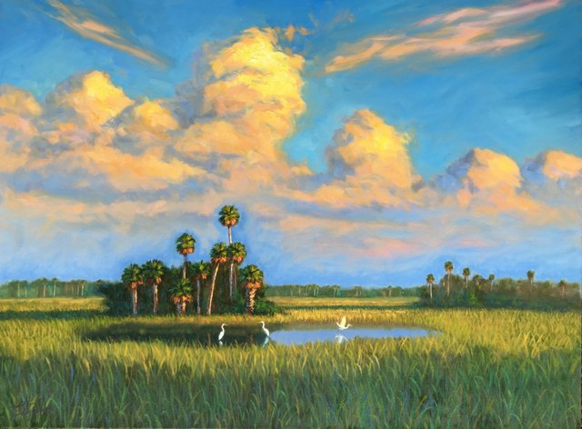 Tim Forman - Everglades Beauty - Oil on Canvas 30x40 RED.jpg