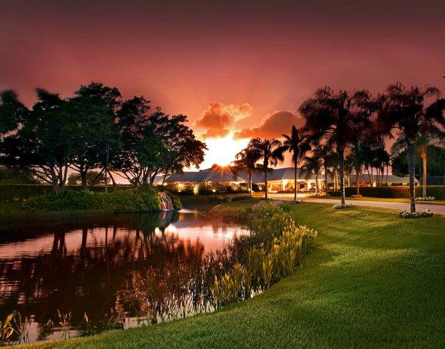 Boca Woods-Twilight Clubhouse Exterior Sunset_web.jpg