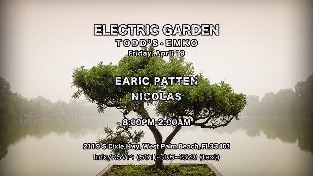 Nicolas, Earic Patten @ [Electric Garden] EMKO Flyer (4.19.2019) [Event Flyer 2].png