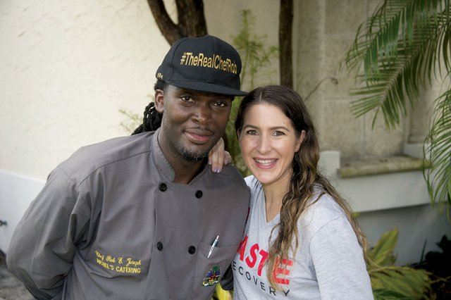 A-Chef Robinson E. Joseph and Crossroads Board Member Kristina Lake.jpg