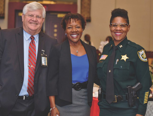 C-Chief Deputy Michael Gauger, Kim Jones, Captain Kimberly Kinsey.jpg