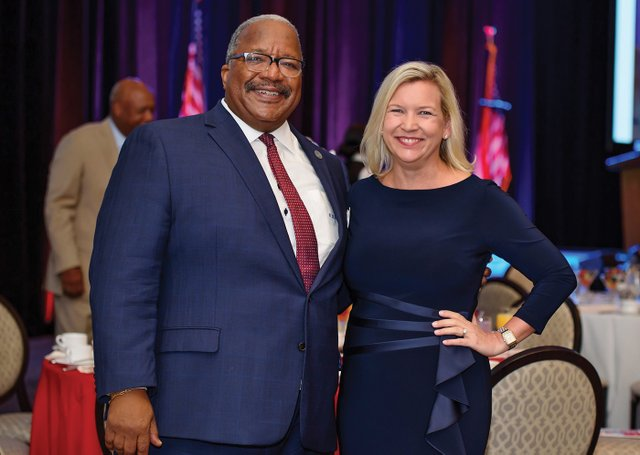 C-Mayor Keith James, Dr. Laurie George.jpg
