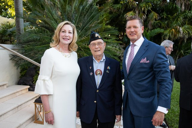 1A. Frances Fisher, Medal of Honor Recipient, Hershel Woody Williams and Harvey Oyer.jpg
