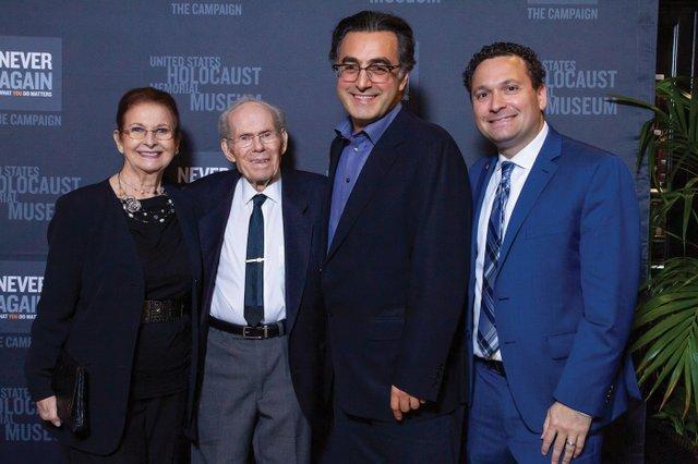 8-Vera & Herb Karliner (Holocaust survivor featured in Maziar's film), Maziar Bahari, Robert Tanen.jpg